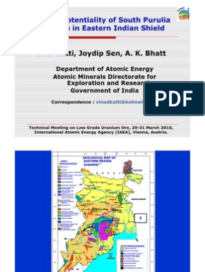 Katti Et Al Eastern India IAEA Singhbhum Shear Zone Uranium