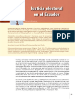 Justicia Electoral en el Ecuador