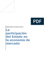 Ensayo participación del Estado en la economia de mercado