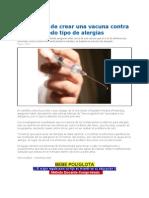 Cerca Creacion de Vacuna Contra Todo Tipo de Alergias