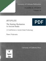 P. Valavanis Hysplex, The Starting Mechanism in Ancient Stadia