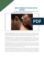 Consejos Para Mejorar El Sexo en La Pareja