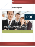 Equity Market Analysis or levels on 16th August