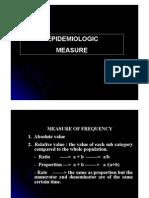 Epidemiologic Measures