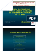 Técnicas Electroquímicas para la remoción-eliminación de microorganismos 2011