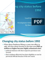Changing City Status Before 1992