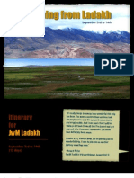 JwM Ladakh - Sep 2012 Itinerary & Costs