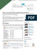 Firefox_ como mostrar a URL completa na barra de endereço