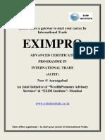 Certificate Programme in International Trade @ Aurangabad