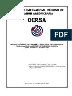 Metodología para determinar el estatus de Ceratitis capitata (Wiedemann) con carácter de vigilancia general