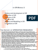 Operations Research an Overview