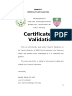 Nursing Research-Appendix F - Certificates