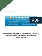 Free Microsoft 70-291 Practice Exams