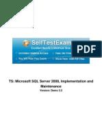 Microsoft 70-432 Mock Exams