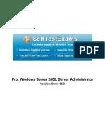 Free Microsoft 70-646 Demo