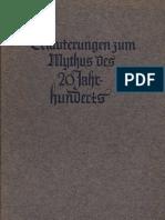Gros, Otto - Erlaeuterungen Zum Mythus Des 20. Jahrhunderts (1939, 74 S., Text)