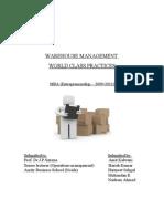 Warehouse Management-Final Project Report