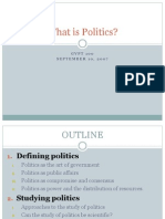 Lecture 2_What is Politics & the Study of Politics