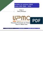 Administration UNIX - Cours Jussieu - 2009-2010