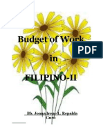Budget of Work