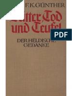 Guenther, Hans - Ritter, Tod Und Teufel, Der Heldische Gedanke (1935, 213 S., Scan-Text, Fraktur)