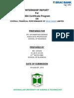 Internship report on BRAC Bank Ltd.