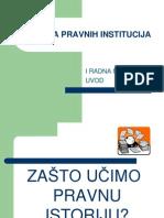 Istorija pravnih institucija - uvod