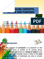 Curriculum Concepts, Nature and Purposes