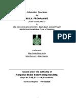 Mba New Brochure 2012 13