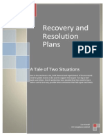 A Tale of Two Situations - Recovery & Resolution Plans