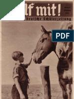 Hilf Mit - Illustrierte Deutsche Schuelerzeitung - 1935 Oktober (33 S., Scan, Fraktur)