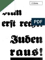 Hochmuth, Paul - Nun Erst Recht - Juden Raus (32 S., Scan, Fraktur)