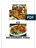 Street Food vs Restaurant Survey Report1