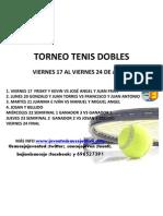 TORNEO TENIS DOBLES