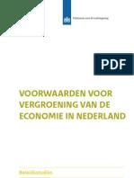 PBL 2012 Voorwaarden Voor Vergroening Van de Economie 500209003