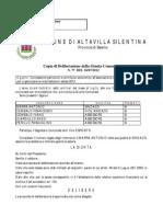 Delibera contributo attività Nuova Pro loco - Comune di Altavilla Silentina