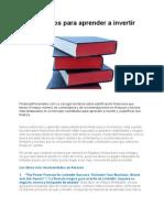 Diez Libros Para Aprender a Invertir 2012