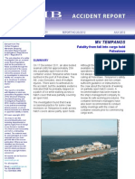 Case Study - Falling Into Open Cargo Hold - Container Vessels