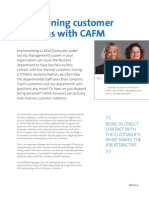 Maintaining customer relations with CAFM