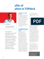 The benefits of collaboration in TOPdesk