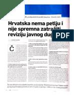 Lesar - Hrvatska nema petlju zatražiti reviziju javnog duga
