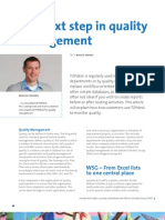 The next step in quality management