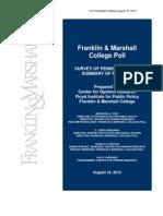 Keystone Poll August 2012
