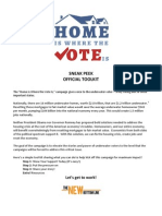 Home Is Where The Vote Is - Toolkit