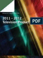 2011-2012TelevisionProductGuide