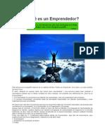 Emprendedor Que Es y Que Condiciones Debe Tener 2012