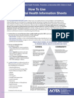 How To Use  AOTA's Mental Health Information Sheets