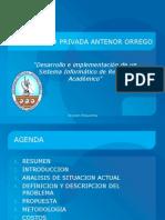 Presentacion de Proyecto Informatico Venta de Software de Gestion Academica Colegio
