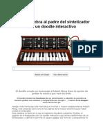 Google Celebra Al Padre Del-sintetizador Con Un Doodle