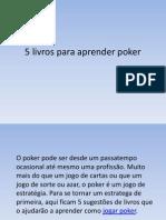 5 Livros Para Aprender Poker